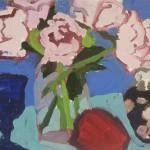 Peggi Kroll-Roberts, Peonies, oil, 7 x 9.