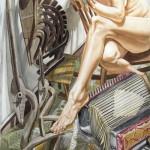 Philip Pearlstein, Swan, Accordion & Mercury, watercolor, 60 x 40.