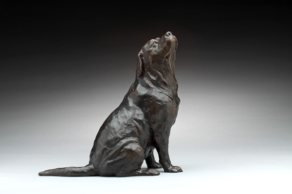 Daniel Glanz, Bacon on the Breeze, bronze, 10.5 x 5.5 x 10.5.