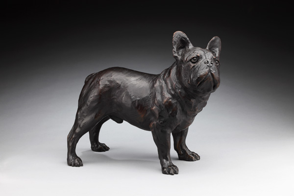 Daniel Glanz, French Bulldog , bronze, 17 x 19.5 x 9.5.