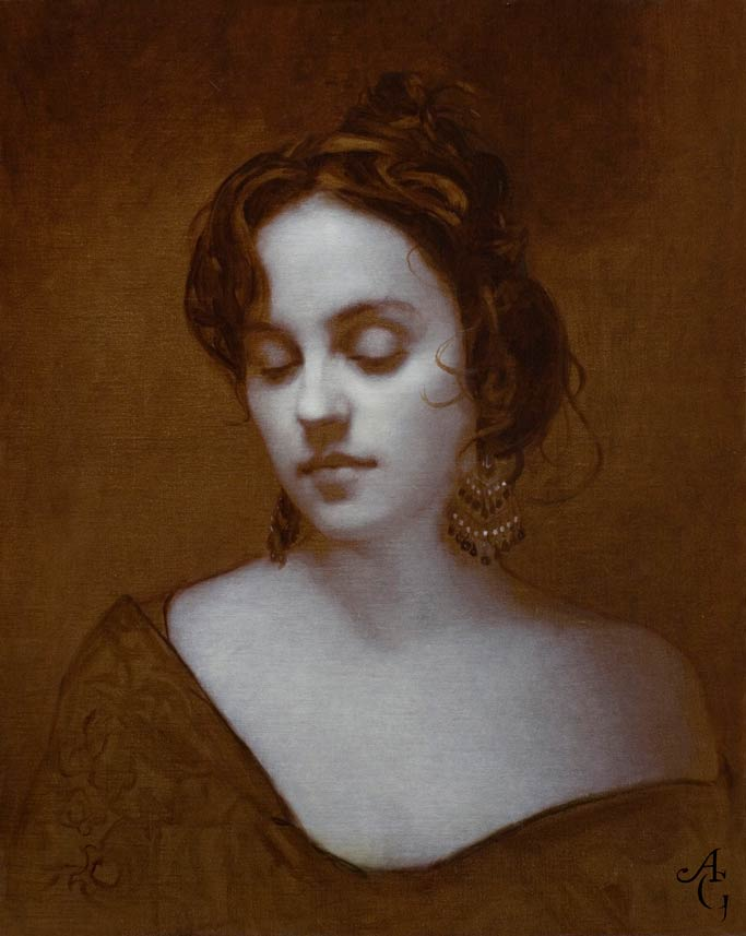 Adrian Gottlieb | Piambura of Heather 4, oil, 20 x 16.