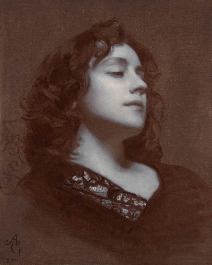 Adrian Gottlieb | Piambura of Heather 1, oil, 20 x 16.