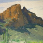 Pima Reservation, oil, 8 x 10.