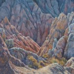 Brenda Howell, Pinnacles at Badlands, oil, 12 x 16.
