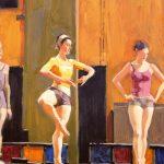 Jennifer Diehl, Poise, oil, 14 x 11.