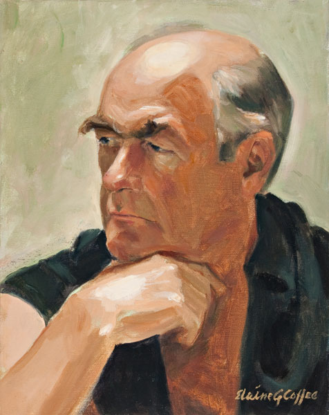 Portrait of John, oil, 14 x 11.