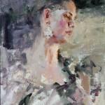 Carolyn Anderson    Portrait of a Dancer, oil, 14 x 11.