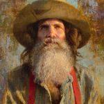 D. Edward Kucera, Prospector's Gaze, oil, 20 x 16.