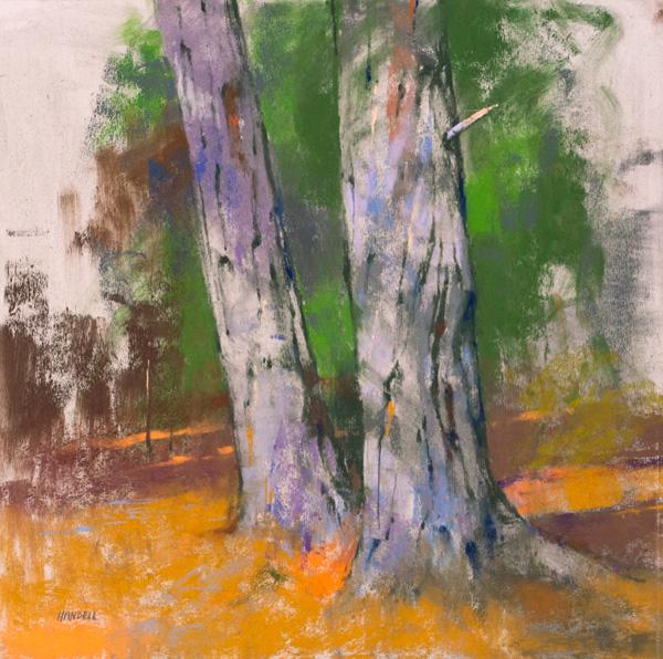 Albert Handell, Pround Ones, pastel, 14 x 14.