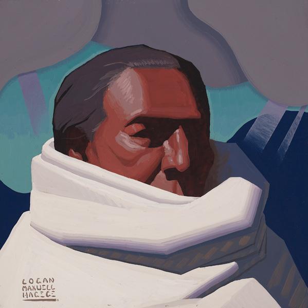 Logan Maxwell Hagege, Providing Rain, oil, 12 x 12.