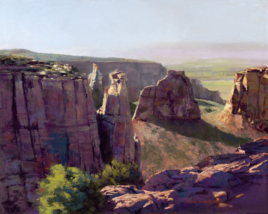 Dennis Rhoades, Purple Canyon, pastel, 16 x 20.