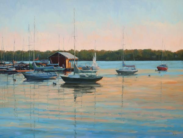 Robert Rohm, Quiet Evening, oil, 36 x 48.