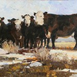 Robert Moore | Spring Cattle, oil, 30 x 48.