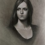 Meghan N. Sours, Rachelle, charcoal, 18 x 14.