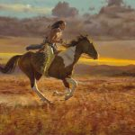D. Edward Kucera, Racing the Sun, oil, 30 x 40.