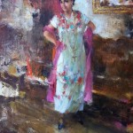 Ramon Kelley, Fiesta Dancer, oil, 16 x 12.