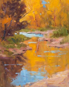 Clarence Medina, Ranchos Stream, oil, 14 x 11.