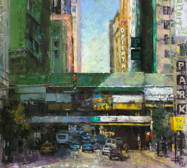 Nancie King Mertz, Randolph Revealed, pastel, 18 x 20.