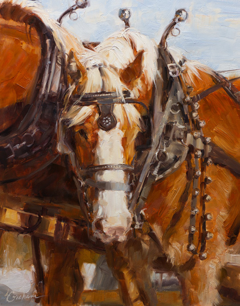 Lindsey Bittner Graham, Ready to Drive, oil, 14 x 11.