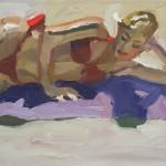 Peggi Kroll-Roberts, Red Bikini, oil, 12 x 16.