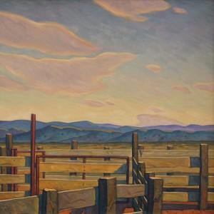 Howard Post, Red Steel, oil, 36 x 36.