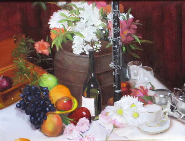 Douglas Reichwein, Clarinet at Home, oil, 11 x 14.