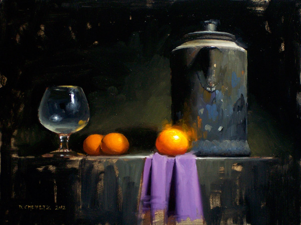David Cheifetz, Reigning Mandarin, oil painting
