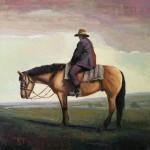 Simon Winegar, Rest, oil, 24 x 24.