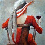 Andre Kohn, Rhapsody, oil, 36 x 36.