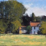 Romona Youngquist, Ribbon Ridge Farmhouse, oil, 10 x 12.