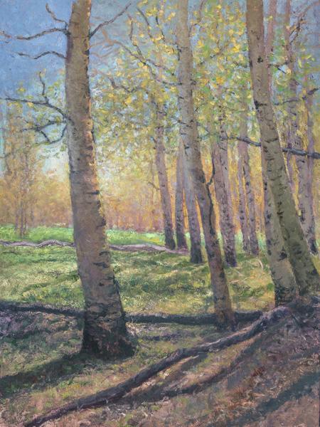 Marty Ricks, Alpine Meadow, oil, 48 x 36.