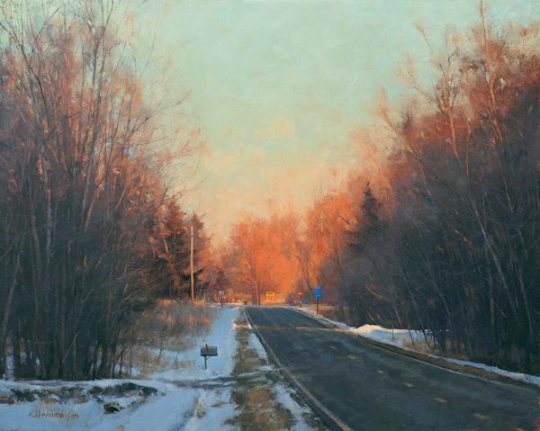 Marc Hanson, Right or Left, oil, 24 x 30.