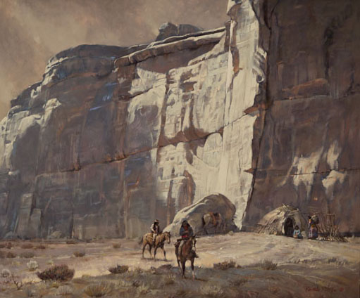Kenneth Riley, Canyon Walls, oil, 19 x 29. Estimate: $20,000-$30,000.