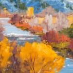 Clarence Medina, Rio Grande Fall, oil, 11 x 14.