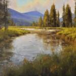 River Study, oil, 18 x 22.
