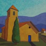 Robert Burt, Road to Sierra Madre, acrylic, 30 x 30.