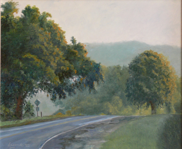 barbara mcgee road to town oil 18 x 24 southwest art. Black Bedroom Furniture Sets. Home Design Ideas