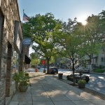 Outside of Robert C. Jackson's art studio in Kennett Square, PA