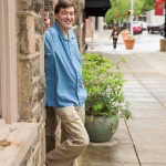 Robert C. Jackson outside of his art studio in Kennett Square, PA