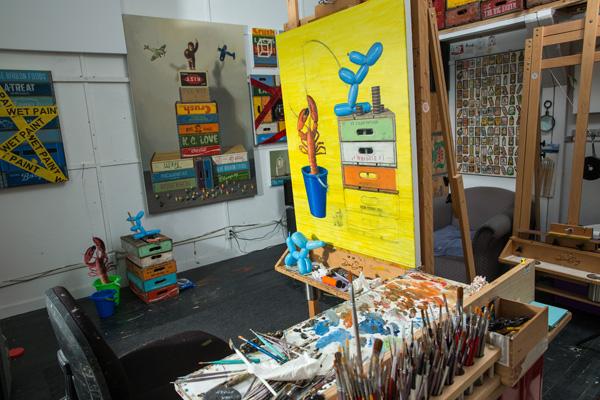 Robert C. Jackson's art studio in Kennett Square, PA