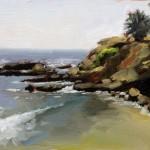 Rockpile Cove, oil, 8 x 10.