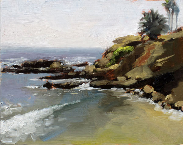 Rockpile Cove, oil, 8 x 10.