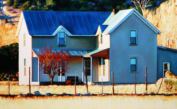 Roger Hayden Johnson, El Rito House, oil, 24 x 40.