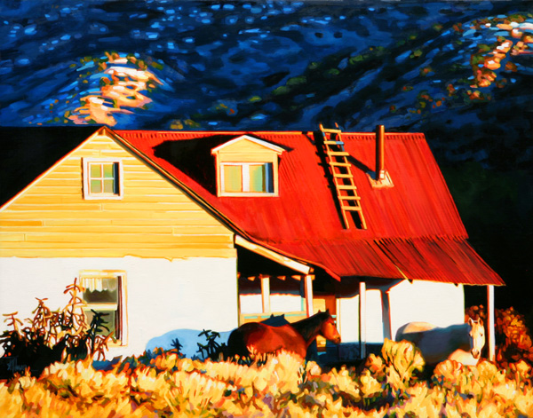 Roger Hayden Johnson, Ranch House, oil, 20 x 26.
