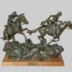 Scott Rogers, Hashknife Pony Express, bronze, 15 x 26 x 10.