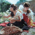 Gladys Roldan-de-Moras, Songs from a Secret Garden, oil, 22 x 28.
