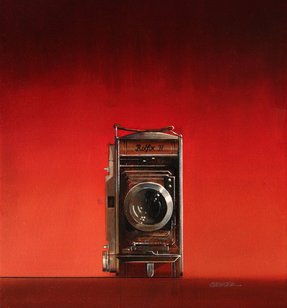 Wendy Chidester, Rolfix II, oil, 22 x 20.