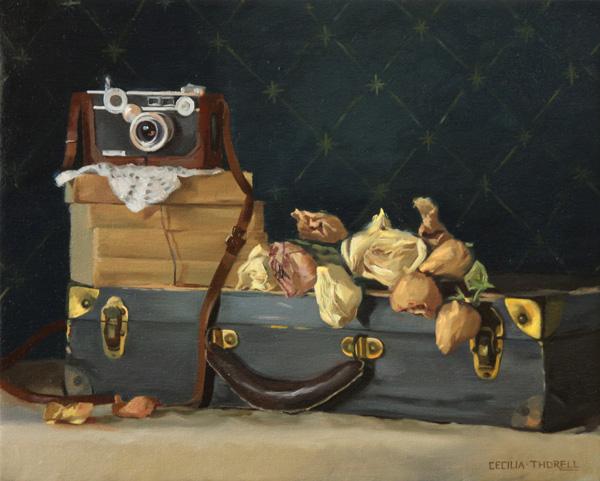 Cecilia Thorell, Romantic Travels, oil 16 x 20.
