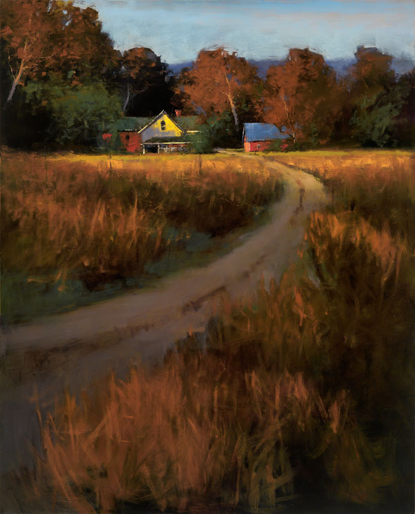 Romona Youngquist, Summer Cottage, oil, 16 x 20.