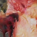 Jean Richardson, Rose Guardian, acrylic, 72 x 46.